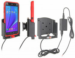 Support voiture  Brodit Samsung Galaxy Note 5  installation fixe - Avec rotule, connectique Molex. Chargeur 2A. Pour  étui Otterbox Defender (non livré). Réf 513772