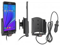 Support voiture  Brodit Samsung Galaxy Note 5  avec chargeur allume cigare - Avec rotule. Avec câble USB. Réf 521771