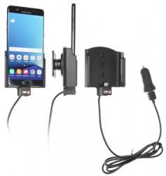 Support voiture  Brodit Samsung Galaxy Note 7 avec chargeur allume cigare - Avec rotule. Avec câble USB. Réf 521915