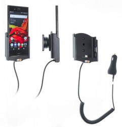 Support téléphone Sony Xperia XZ1 avec chargeur allume-cigare. Réf Brodit 712008