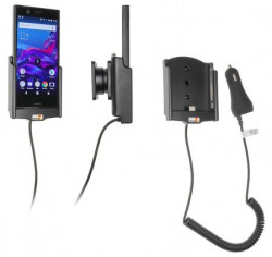 Support téléphone Sony Xperia XZ1 Compact avec chargeur allume-cigare. Réf Brodit 712007