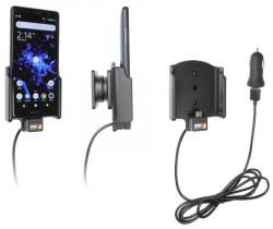 Support téléphone Sony Xperia XZ2 Compact avec adaptateur allume-cigare et cable USB. Réf Brodit 721052