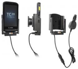 Support Zebra TC20/TC25 avec chargeur allume-cigare. Réf Brodit 712019