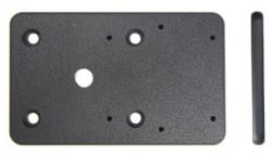 Plaque d'extension, 80x50x5mm. Avec trous pré-percés AMPS. Réf 215395