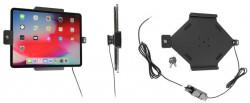 Support Apple iPad Pro 12.9 2020 (A2069, A2232, A2229) pour installation fixe avec verrouillage à clé. Réf Brodit 736095