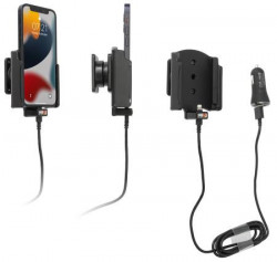 Support iPhone 13 Mini avec adaptateur allume-cigare et cable USB. Réf Brodit 521275