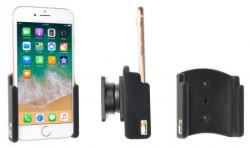 Support passif iPhone 8 avec revêtement peau de pêche. Réf Brodit 711009