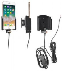 Support téléphone Apple iPhone 8 avec revêtement «peau de pêche» pour installation fixe. Réf Brodit 727009
