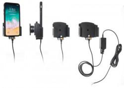 Support voiture iPhone X/XR/Xs/11 avec étui de largeur 70-83 mm et d'épaisseur 2-10 mm - pour installation fixe. Réf Brodit 727013