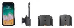 Support ajustable Brodit pour iPhone X/XR/Xs avec étui de largeur 70-83 mm et d'épaisseur 2-10 mm. Réf 711013