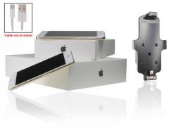 Support voiture  Brodit Apple iPhone 6  pour fixation cable - Utilisation avec câble Apple Lightning d'origine Avec rotule. Convient dispositifs avec un étui de dimensions: Hauteur: 137-144 mm, Larg: 75 mm, épaiss.: 2-11 mm. Réf 514662