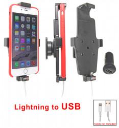 Support voiture Apple iPhone 6Plus/6SPlus/7Plus/8Plus/Xs Max pour fixation cable - Utilisation avec câble Apple Lightning d'origine Pour appareil avec étui. Réf 514671