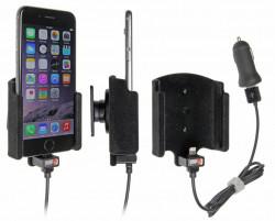 Support voiture Brodit Apple iPhone 6/6S/7 avec chargeur allume cigare - Avec rotule. Avec câble USB. Chargeur approuvé par Apple. Surface