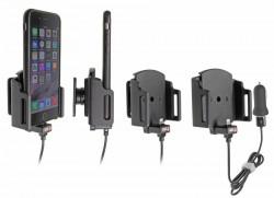 Support voiture Apple iPhone 6/6S/7/8/X avec chargeur allume cigare. Avec câble USB. Pour appareil avec étui de dimensions: Larg: 62-77 mm, épaiss.: 6-10 mm. Réf 521666
