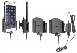 Support voiture Apple iPhone 6Plus/6SPlus/7Plus/8Plus/X pour installation fixe. Pour appareil avec étui de dimensions: Larg: 75-89 mm, épaiss.: 2-10 mm. Réf 527667