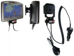 Support voiture  Brodit TomTom GO 520 T  avec chargeur allume cigare - Avec rotule. Grâce à la connectivité TMC (prise ronde). Réf 273006
