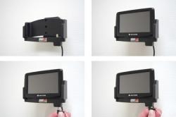 Support voiture  Brodit Navigon 2100 Max  avec chargeur allume cigare - Avec rotule. Grâce à la connectivité TMC, antenne TMC inclus. 12/24 Volt. Réf 278020