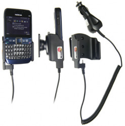 Support voiture  Brodit Nokia E63  avec chargeur allume cigare - Avec rotule orientable. Réf 512006
