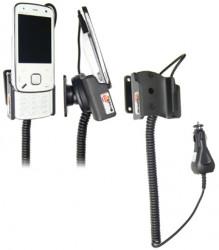 Support voiture  Brodit Nokia N86  avec chargeur allume cigare - Avec rotule. Pour position ouverte. Réf 512007
