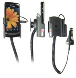 Support voiture  Brodit Samsung i8910 HD  avec chargeur allume cigare - Avec rotule orientable. Réf 512020