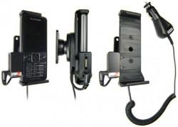 Support voiture  Brodit Sony Ericsson C901  avec chargeur allume cigare - Avec rotule. Avec connecteur pass-through pour la connectivité casque. Réf 512025