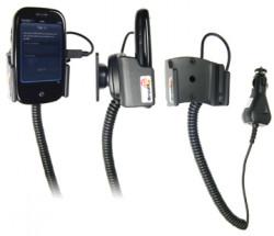 Support voiture  Brodit Palm Pre  avec chargeur allume cigare - Avec rotule. Pour une position fermée. Réf 512027
