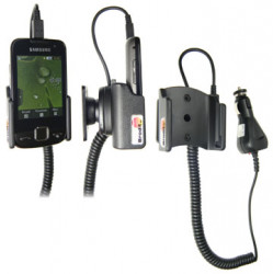 Support voiture  Brodit Samsung S5600  avec chargeur allume cigare - Avec rotule orientable. Réf 512032