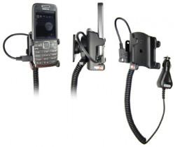 Support voiture  Brodit Nokia E52  avec chargeur allume cigare - Avec rotule. Réf 512043