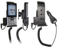 Support voiture  Brodit Sony Ericsson J105i  avec chargeur allume cigare - Avec rotule. Avec connecteur pass-through pour la connectivité casque. Réf 512064