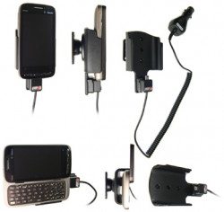 Support voiture  Brodit HTC Touch Pro2 US (T-Mobile USA)  avec chargeur allume cigare - Avec rotule orientable. Réf 512065