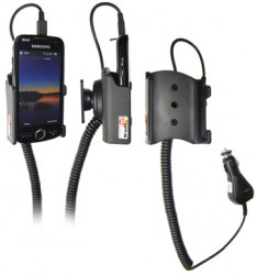 Support voiture  Brodit Samsung Omnia II  avec chargeur allume cigare - Avec rotule orientable. Réf 512077