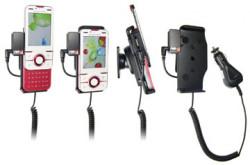 Support voiture  Brodit Sony Ericsson Yari  avec chargeur allume cigare - Avec rotule. Avec connecteur pass-through pour la connectivité casque. Réf 512078