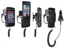 Support voiture  Brodit Sony Ericsson Aino  avec chargeur allume cigare - Avec rotule. Avec connecteur pass-through pour la connectivité casque. Réf 512079