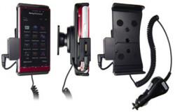 Support voiture  Brodit Sony Ericsson Satio  avec chargeur allume cigare - Avec rotule. Avec connecteur pass-through pour la connectivité casque. Réf 512080