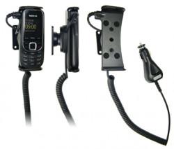 Support voiture  Brodit Nokia 2323 Classic  avec chargeur allume cigare - Avec rotule orientable. Réf 512082