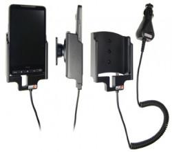 Support voiture  Brodit HTC HD2  avec chargeur allume cigare - Avec rotule orientable. Réf 512086