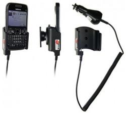 Support voiture  Brodit Nokia E72  avec chargeur allume cigare - Avec rotule orientable. Réf 512094