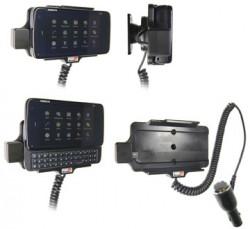 Support voiture  Brodit Nokia N900  avec chargeur allume cigare - Avec rotule orientable. Réf 512099