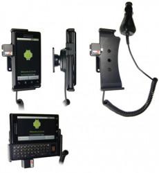 Support voiture  Brodit Motorola Droid (CDMA)  avec chargeur allume cigare - Avec rotule. Avec la fonction Car Dock. Réf 512104