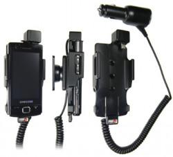 Support voiture  Brodit Samsung Omnia Lite GT-B7300  avec chargeur allume cigare - Avec rotule orientable. Réf 512131
