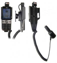 Support voiture  Brodit Nokia C5-00  avec chargeur allume cigare - Avec rotule orientable. Réf 512148