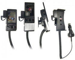 Support voiture  Brodit Sony Ericsson Hazel  avec chargeur allume cigare - Avec rotule. Avec connecteur pass-through pour la connectivité casque. Réf 512158
