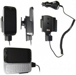 Support voiture  Brodit HTC Tilt 2  avec chargeur allume cigare - Avec rotule. NON aux modèles de T-Mobile USA, Sprint, Verizon. Réf 512163