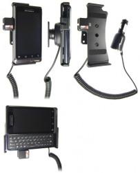 Support voiture  Brodit Motorola Droid 2  avec chargeur allume cigare - Avec rotule orientable. Réf 512185