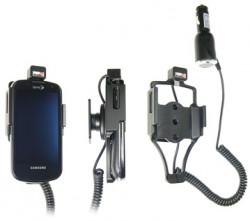 Support voiture  Brodit Samsung Epic 4G  avec chargeur allume cigare - Avec rotule. Pour un montant position fermée. Réf 512189