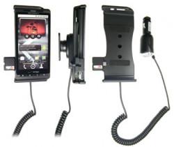 Support voiture  Brodit Motorola Droid X  avec chargeur allume cigare - Avec rotule orientable. Réf 512190