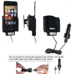 Support voiture  Brodit Apple iPod Touch 4th Generation  avec chargeur allume cigare - Avec rotule. Avec câble USB. Surface &quot