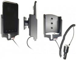 Support voiture  Brodit HTC Desire HD  avec chargeur allume cigare - Avec rotule orientable. Réf 512198