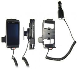 Support voiture  Brodit Nokia N8  avec chargeur allume cigare - Avec rotule orientable. Réf 512205
