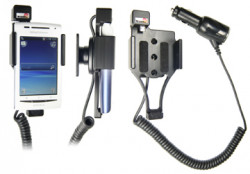 Support voiture  Brodit Sony Ericsson X8  avec chargeur allume cigare - Avec rotule orientable. Réf 512206